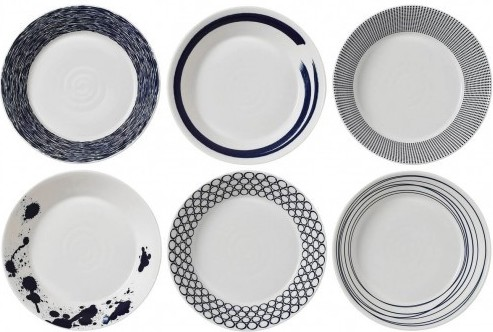 Royal Doulton Pacific 22 cm pastabord - set van 6