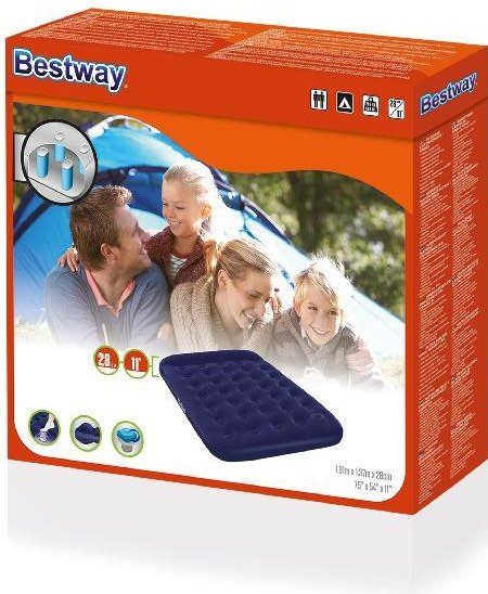 Bestway Flocked Easy Inflate Double Camping luchtbed