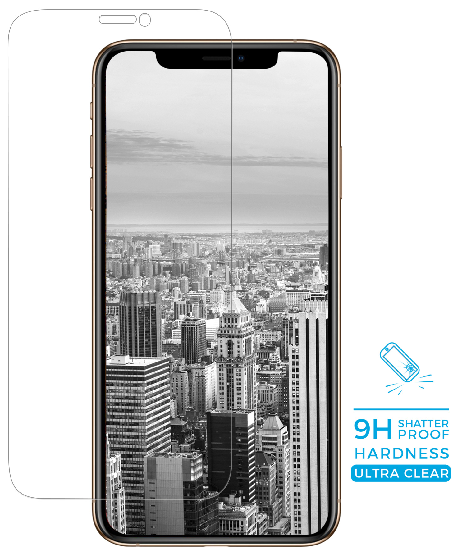Mobiparts Armoured Glass screenprotector - Apple iPhone X/XS/11 Pro